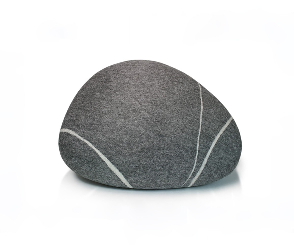 Pouf stONE No.5 Dark Gray S