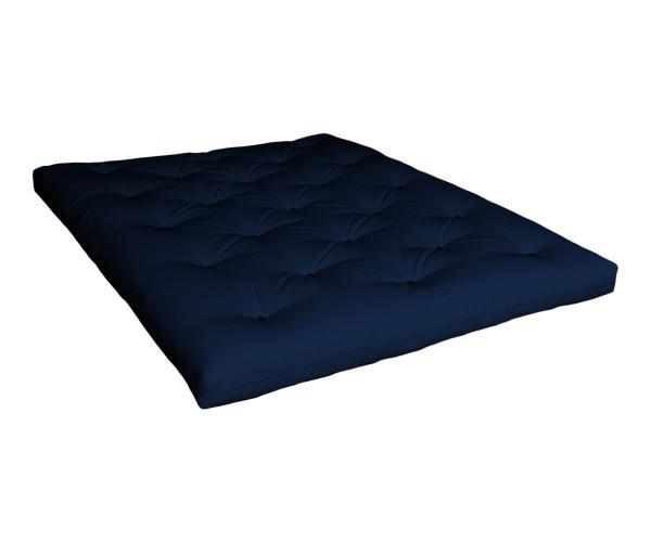 Futon Komaki Latex 130x200 cm Marineblau (Sofort Lieferbar)