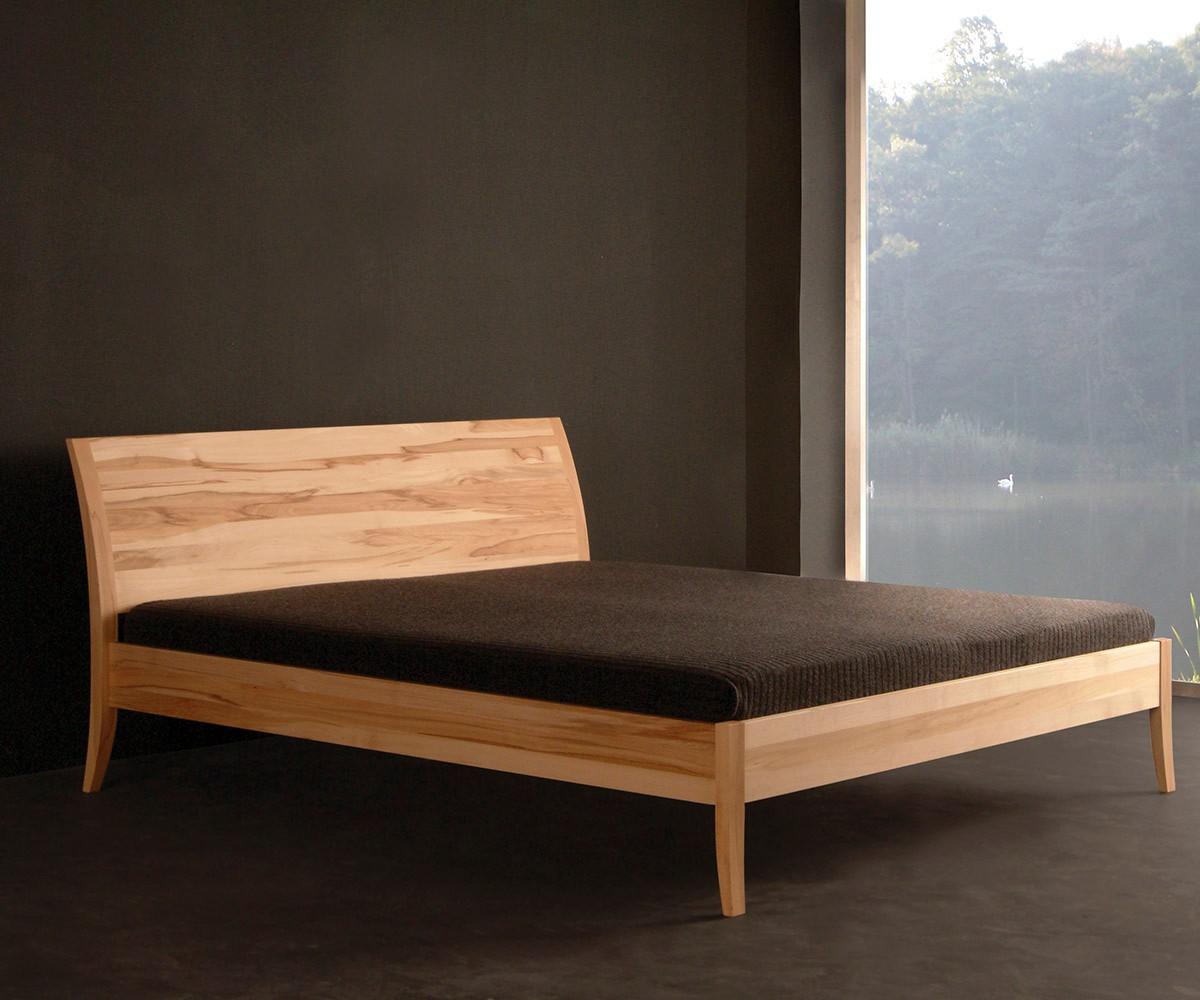 Bett Classico 160x200 cm Buche Nussbaum gebeizt und lackiert (Sofort Lieferbar)