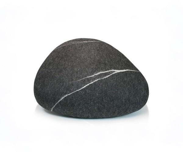 Pouf stONE No.5 Marble Black S
