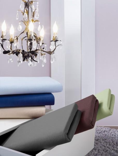 Spannbetttuch Premium-Stretch Royal Zwirn-Jersey