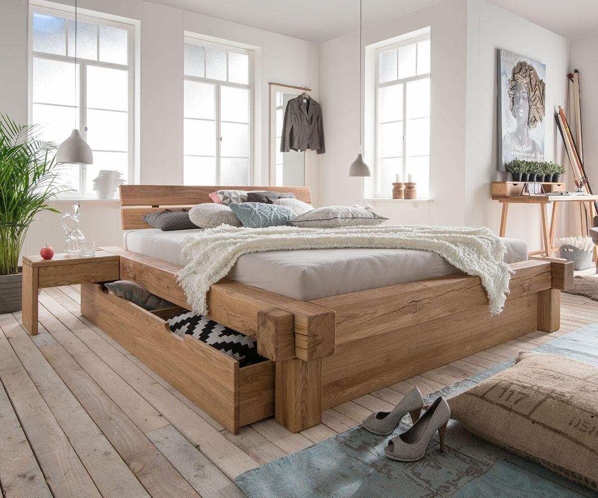 Balkenbett Arca mit Schubladen